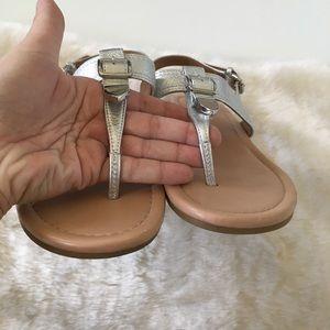 Coach Shoes - Coach Cassidy Silver Sandals